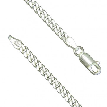 Sterling Silver Mens 18 Inch Curb Chain