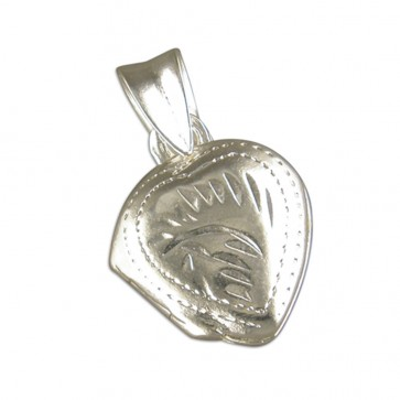Sterling Silver Small Heart Locket On A Snake Necklace