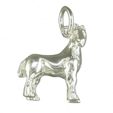 Children's Sterling Silver Shire Horse Pendant On A Curb Necklace