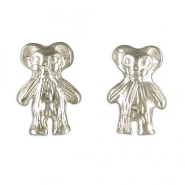 Sterling Silver Teddy Bear Earrings