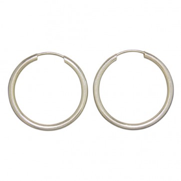 Sterling Silver 29MM Hoop Earrings