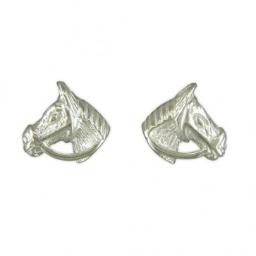 Sterling Silver Horse Head Stud Earrings