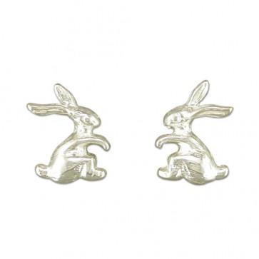 Sterling Silver Bunny Rabbit Earrings