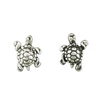 Sterling Silver Tortoise Stud Earrings