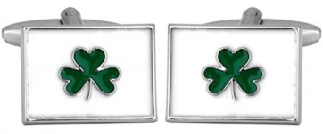 Novelty Irish Shamrock Cufflinks