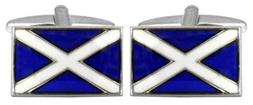 Novelty Scottish Flag Cufflinks