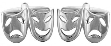 Novelty Open Theatrical Masks Cufflinks