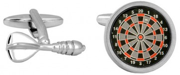 Novelty Dart & Dart Board Cufflinks