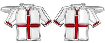 Novelty England Football Shirt Cufflinks