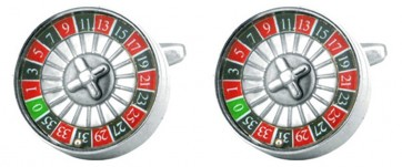 Novelty Roulette Wheel Cufflinks