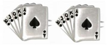 Novelty Fan Of Spade Cards Cufflinks