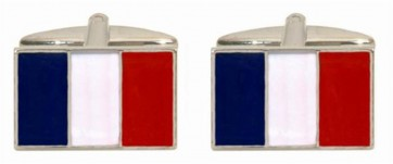 Novelty French Flag Cufflinks