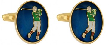 Novelty Golf Enamel Cufflinks