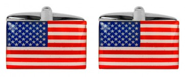 Novelty USA Flag Cufflinks