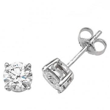 9ct White Gold 0.20ct Diamond Illusion Set Stud Earrings