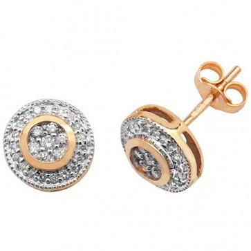 9ct Yellow Gold 0.25ct Diamond Stud Earrings