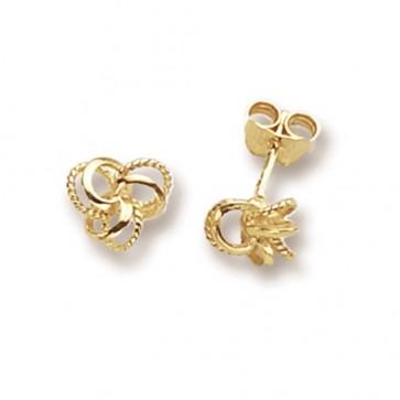 9ct Yellow Gold Fancy Knot Stud Earrings
