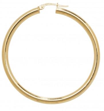 9ct Yellow Gold Plain Hoop Earrings