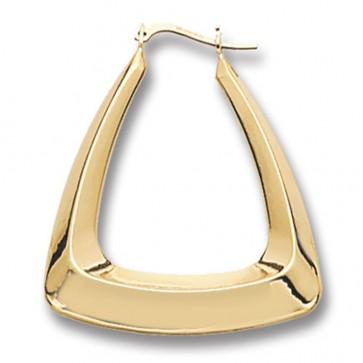 9ct Yellow Gold Plain Creole Earrings