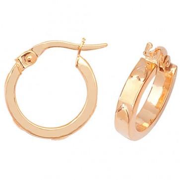 9ct Yellow Gold Small Heart Hoop Earrings