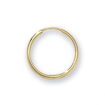 9ct Yellow Gold 16MM Sleeper Earrings