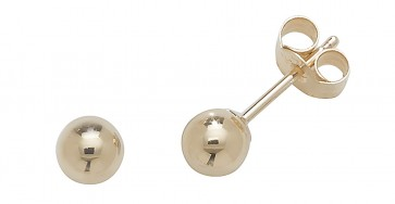 9ct Yellow Gold 4MM Ball Stud Earrings