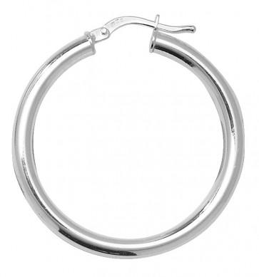 Sterling Silver 4MM Thick 32MM Hoop Earrings