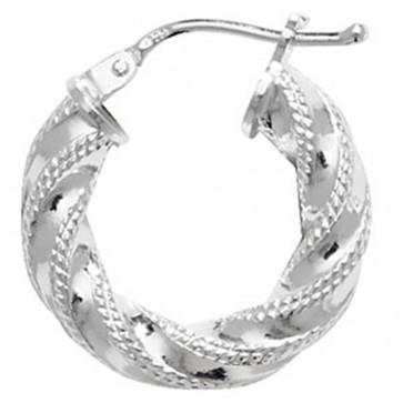Sterling Silver 17MM Hoop Earrings