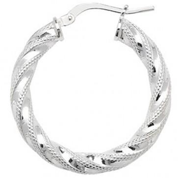 Sterling Silver 27MM Hoop Earrings