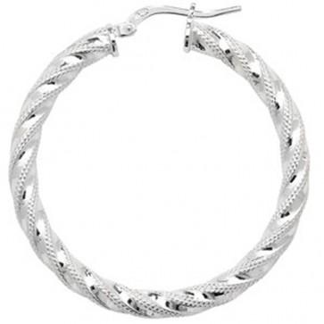 Sterling Silver 38MM Hoop Earrings