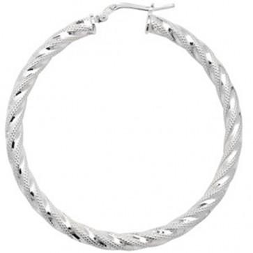 Sterling Silver 48MM Hoop Earrings