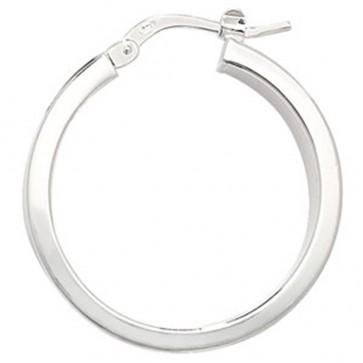 Sterling Silver 24MM Plain Hoop Earrings