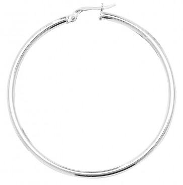 Sterling Silver 2MM Thick 45MM Hoop Earrings