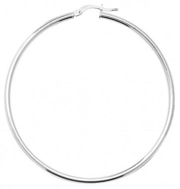 Sterling Silver 2MM Thick 56MM Hoop Earrings