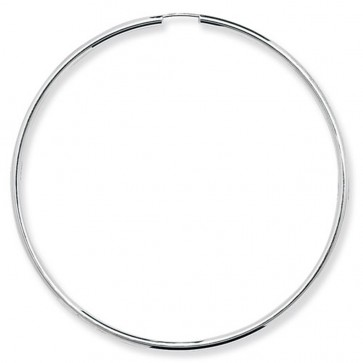 Sterling Silver 70MM Sleeper Earrings