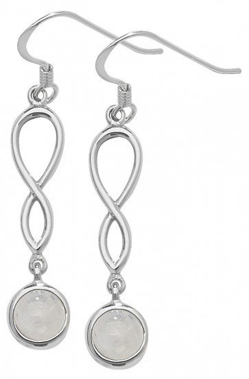 Sterling Silver Moonstone Celtic Drop Earrings