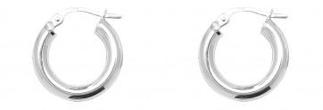 Sterling Silver 16MM Plain Hoop Earrings