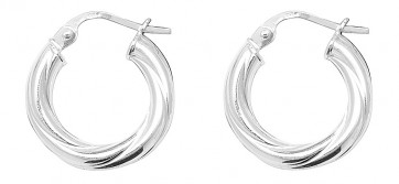 Sterling Silver 11MM Twisted Hoop Earrings