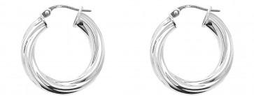 Sterling Silver 23MM Twisted Hoop Earrings