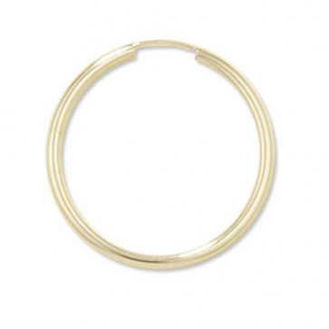 9ct Gold 25MM Hoop Earrings