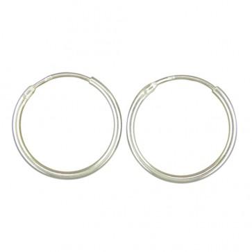 Sterling Silver 18MM Hoop Earrings
