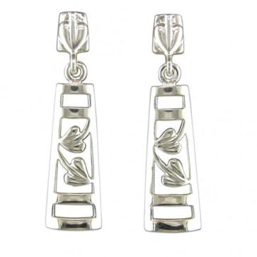 Sterling Silver Rennie Mackintosh Style Drop Earrings