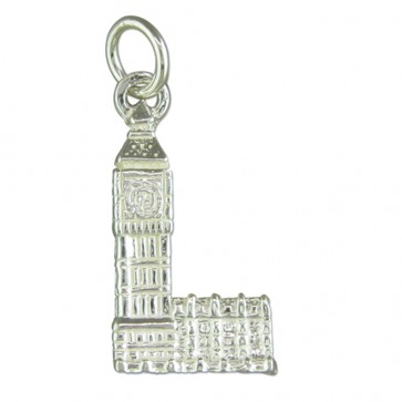 Sterling Silver Big Ben Pendant On A Snake Necklace