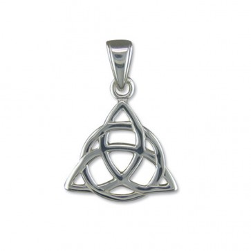 Children's Sterling Silver Triquetra Pendant On A Curb Necklace