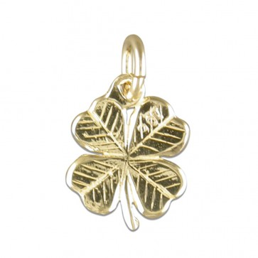 Children's 9ct Gold Four Leaf Clover Pendant On A Prince of Wales Necklace