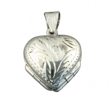 Men's Sterling Silver 4 Way Family Heart Locket On A Black Leather Cord Necklace