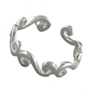 Sterling Silver Plain Scrolls Toe Ring