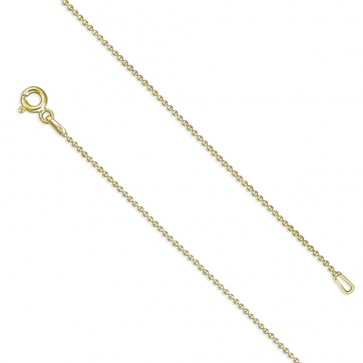 18K Gold Plated 20 Inch Bead Chain