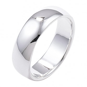 Sterling Silver 5mm Wedding Band