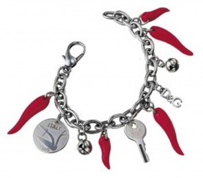 Dolce And Gabbana Horns And Charms Bracelet